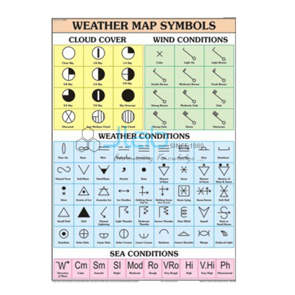 Weather Map Symbols Chart India, Weather Map Symbols Chart ...