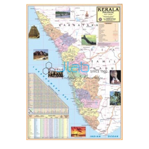 What Places Cannot Be Missed In North Kerala: Kerala Political Map Chart India, Kerala Political Map